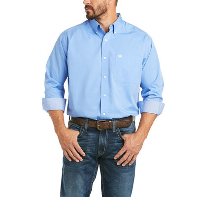 Wrinkle Free Solid Pinpoint Oxford Classic Fit Shirt