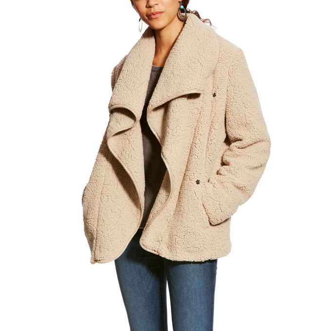 Moonlit Shearling Coat
