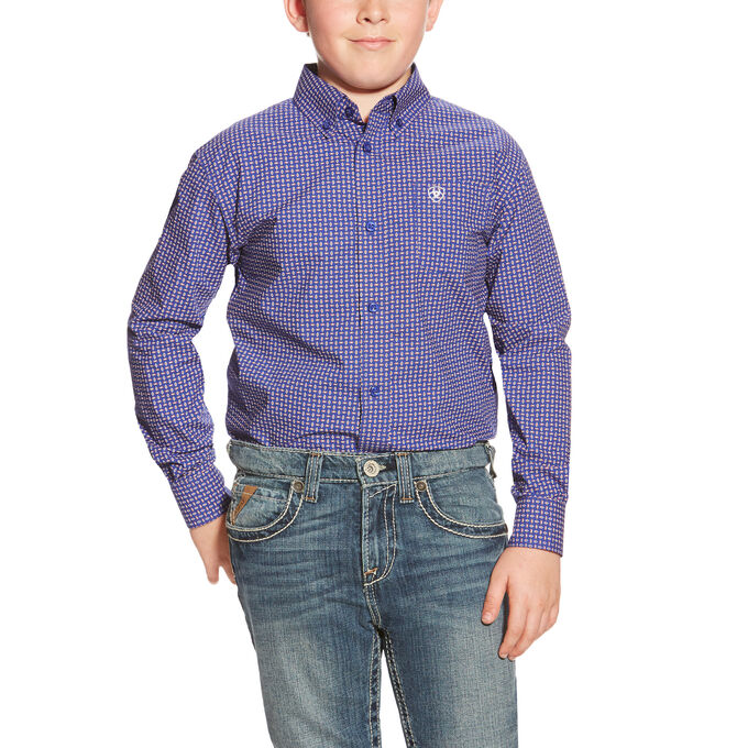 Boys Redding LS Print Shirt