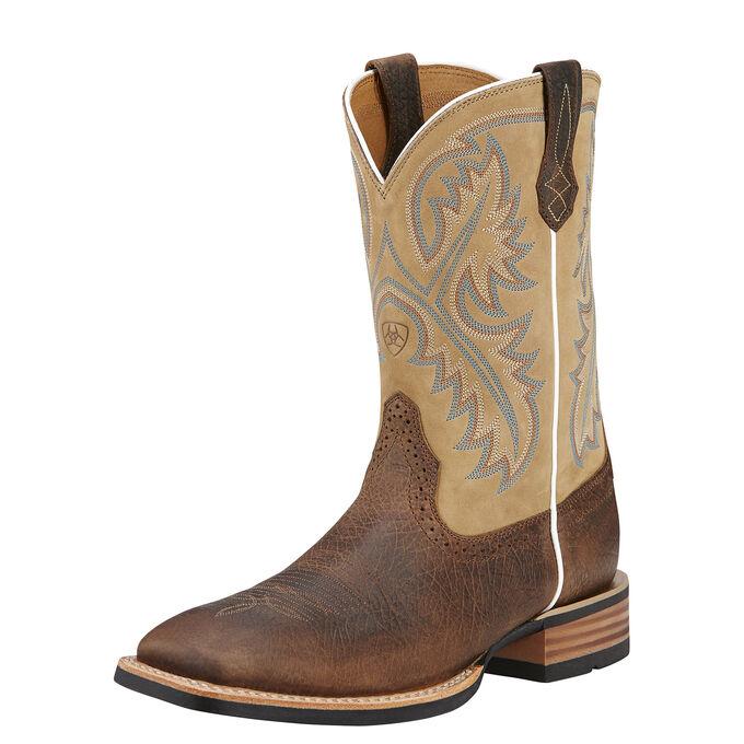 Mens Brown and Tan Cowboy Boots