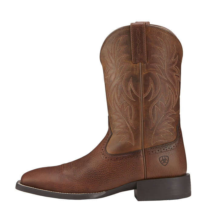 Mens Brown Square Toe Cowboy Boots - Wide Square Toe