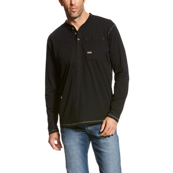 Rebar Pocket Henley Top