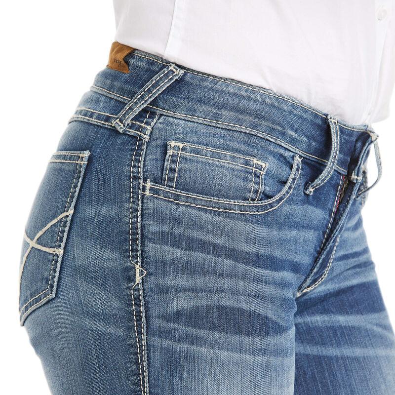 Trouser Mid Rise Stretch Baseball Stitch Wide Leg Jean