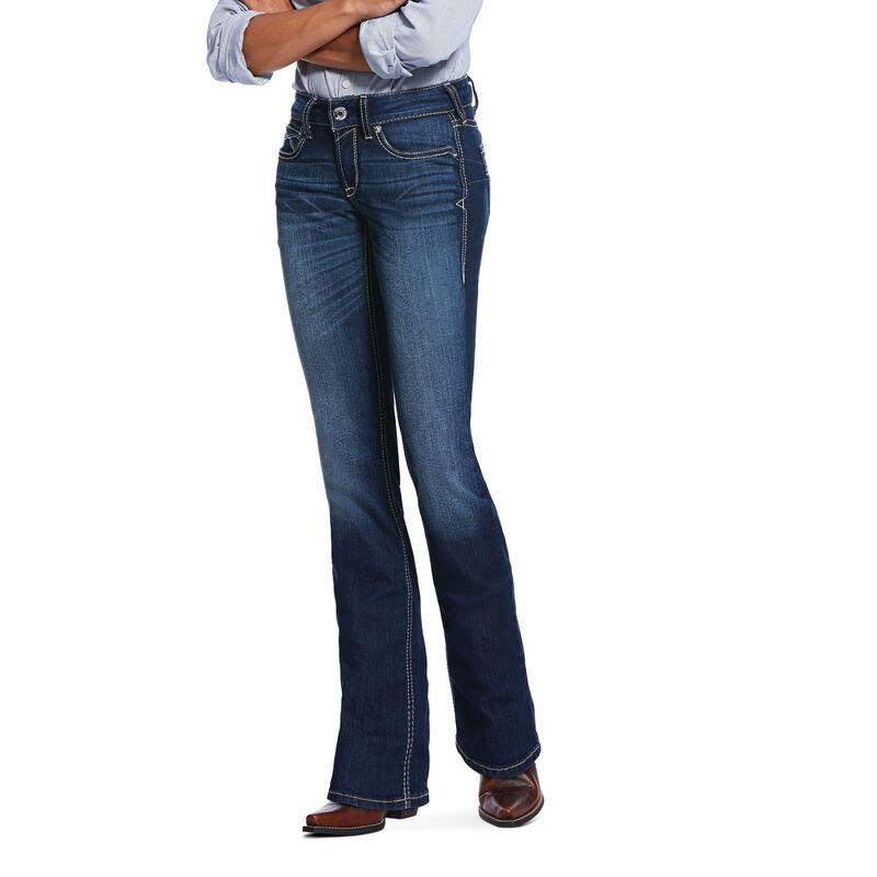 R.E.A.L. Mid Rise Stretch Blue Diamond Boot Cut Jean