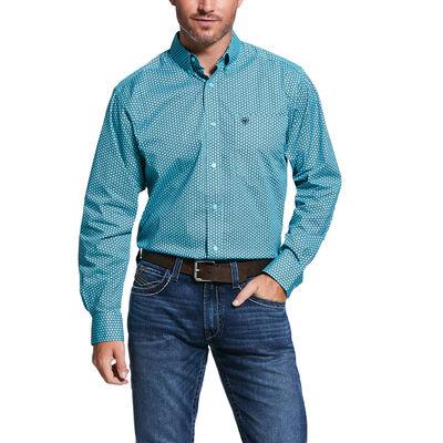 Vinceton Print Str Fitted Shirt
