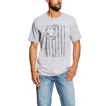 Vertical Flag Short Sleeve T-Shirt