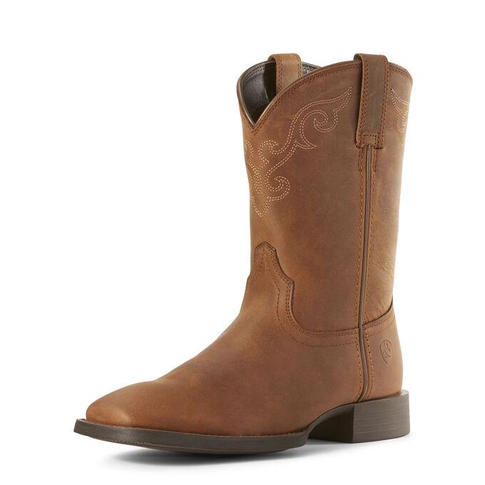 Roper Wide Square Toe Western Boot