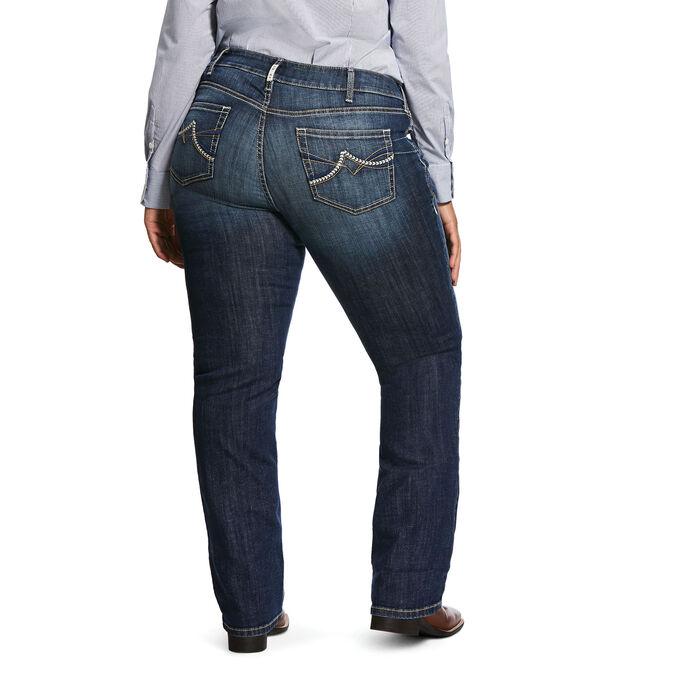 R.E.A.L. Mid Rise Stretch Brianne Stackable Straight Leg Jean