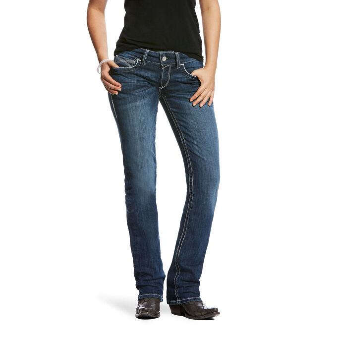 R.E.A.L Mid Rise Updated Entwined Stackable Straight Leg Jean
