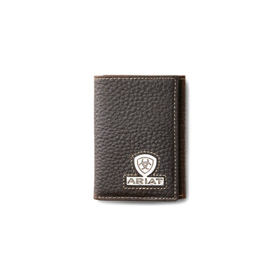 Trifold Wallet Stacked Logo
