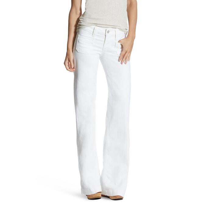Dawn White Wide Leg Trouser Jean