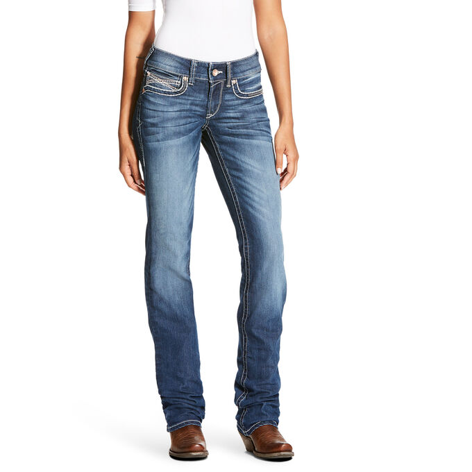 R.E.A.L Mid Rise Cascade Stackable Straight Leg Jean