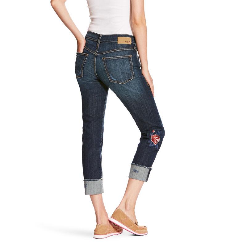 Boyfriend Bloom Stackable Straight Jean