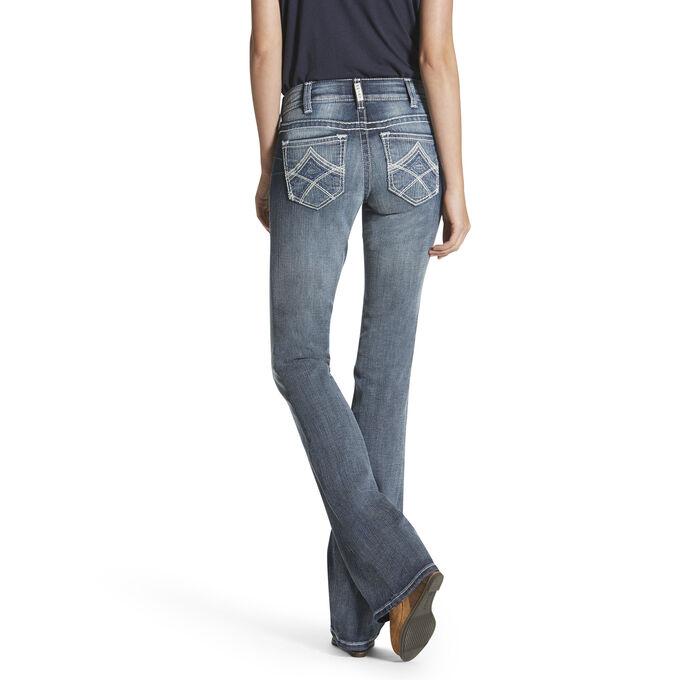 R.E.A.L Mid Rise Multi Stitch Boot Cut Jean