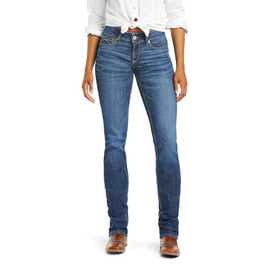 R.E.A.L. Mid Rise Myla Stackable Straight Leg Jean