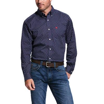 Venton Print Str Fitted Shirt