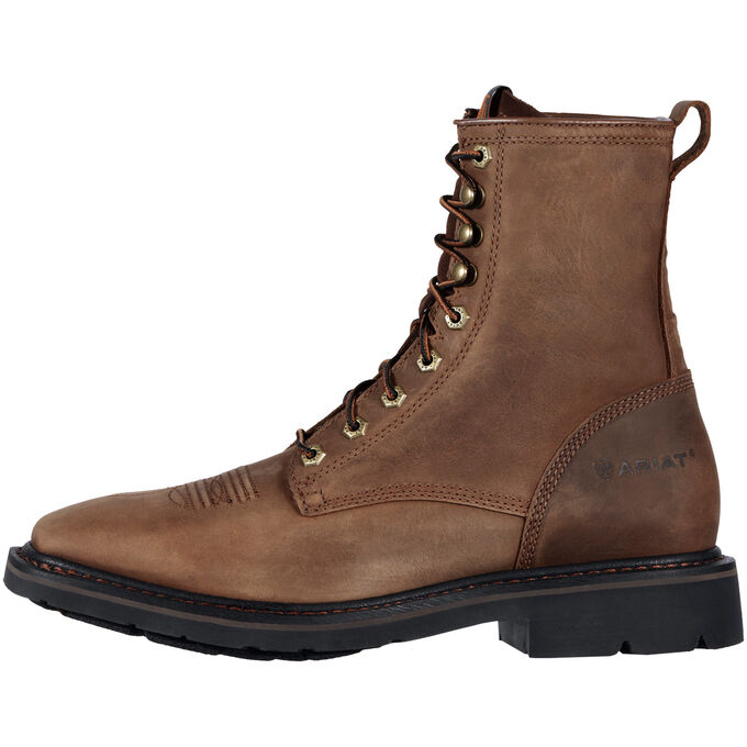 "Cascade 8"" Wide Square Toe Work Boot"