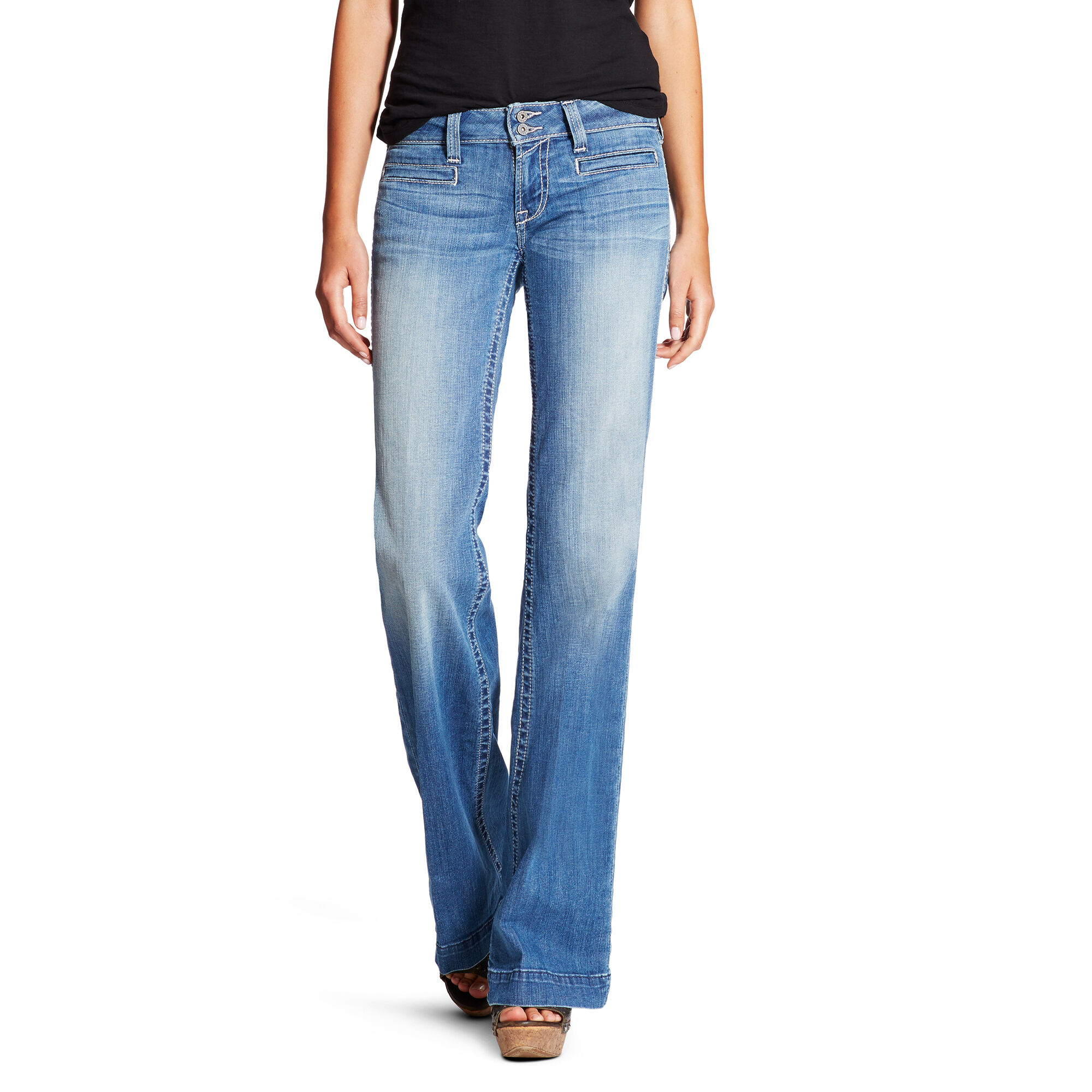Outseam Ella Wide Leg Trouser Jean
