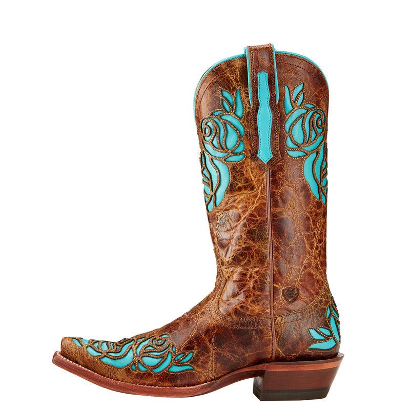 Dusty Rose X Toe Western Boot