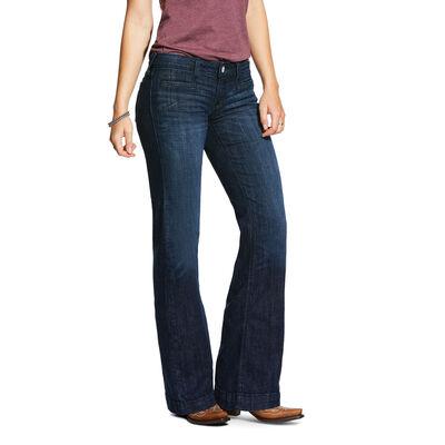 Trouser Mid Rise Stretch Stargazer Wide Leg Jean