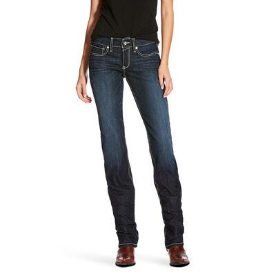 R.E.A.L Mid Rise Splash Stackable Straight Leg Jean