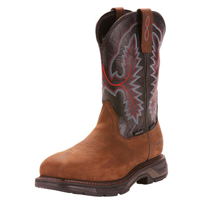 WorkHog XT Wide Square Toe Waterproof Carbon Toe Work Boot
