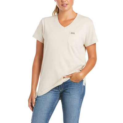 Rebar Cotton Strong V-Neck Top