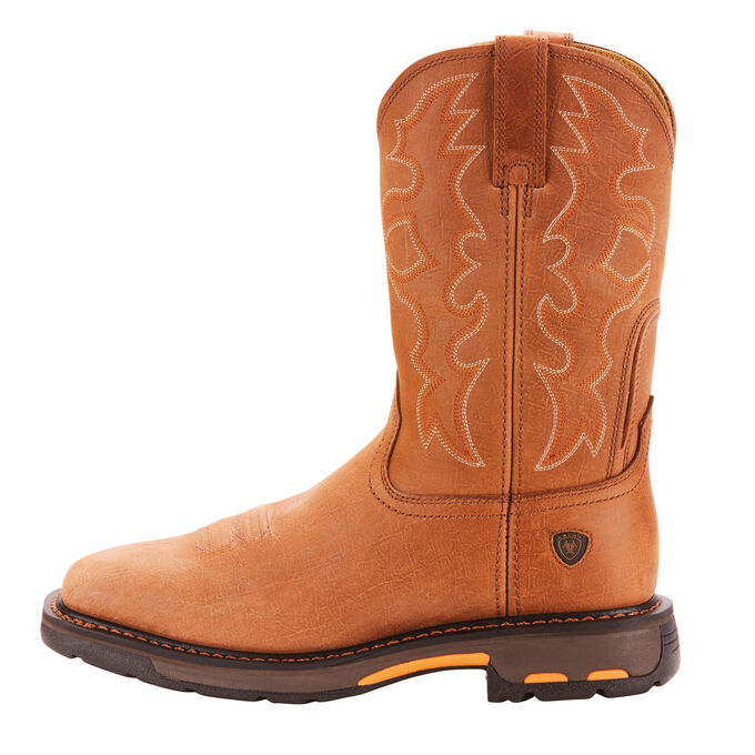 Men's Light Brown Cowboy Work Boots