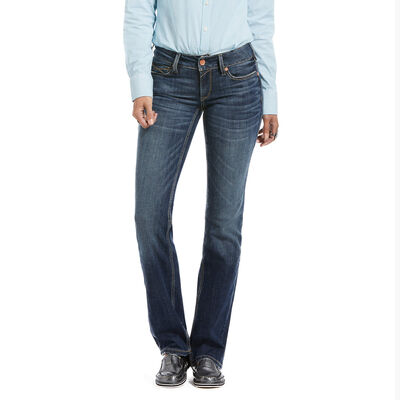 R.E.A.L. Mid Rise Stretch Julia Straight Jean