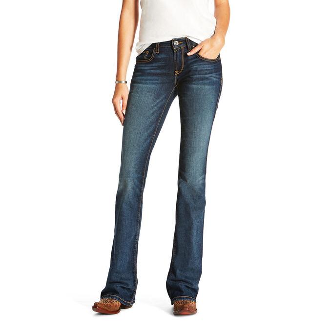Ultra Stretch Crosshatch Boot Cut Jean