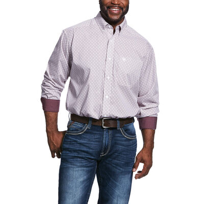 Wrinkle Free Painton Print Classic Fit Shirt