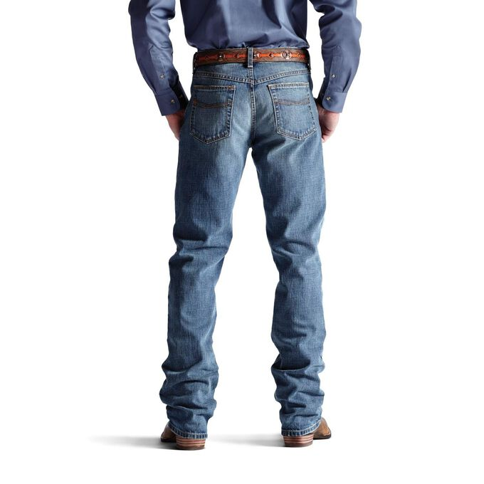 Men's Western Bootcut Jeans - Relaxed Fit Medium Wash