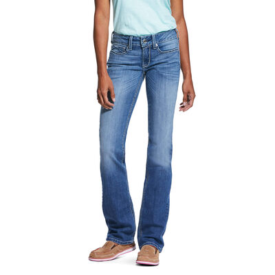 R.E.A.L. Mid Rise Stretch Tulip Stackable Straight Leg Jean