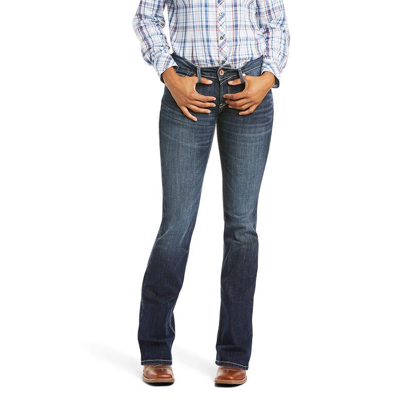 Ariat Women's R.E.A.L Arrow Mid Rise Esther Boot Jeans