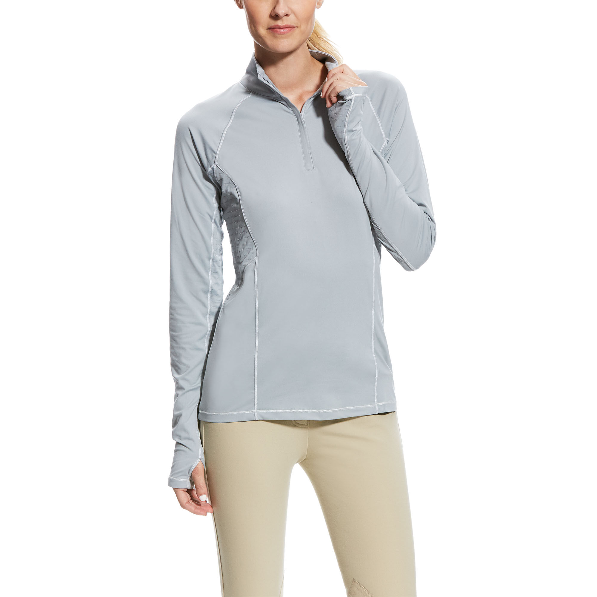 Ariat Womens Lowell 2.0 1/4 Zip Clothing & Accessories Grisblue Sporting Goods