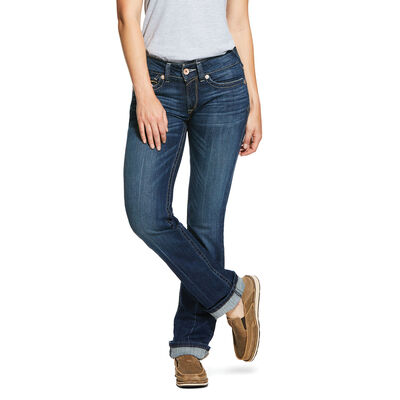 R.E.A.L. Mid Rise Stretch Rookie Stackable Straight Leg Jean