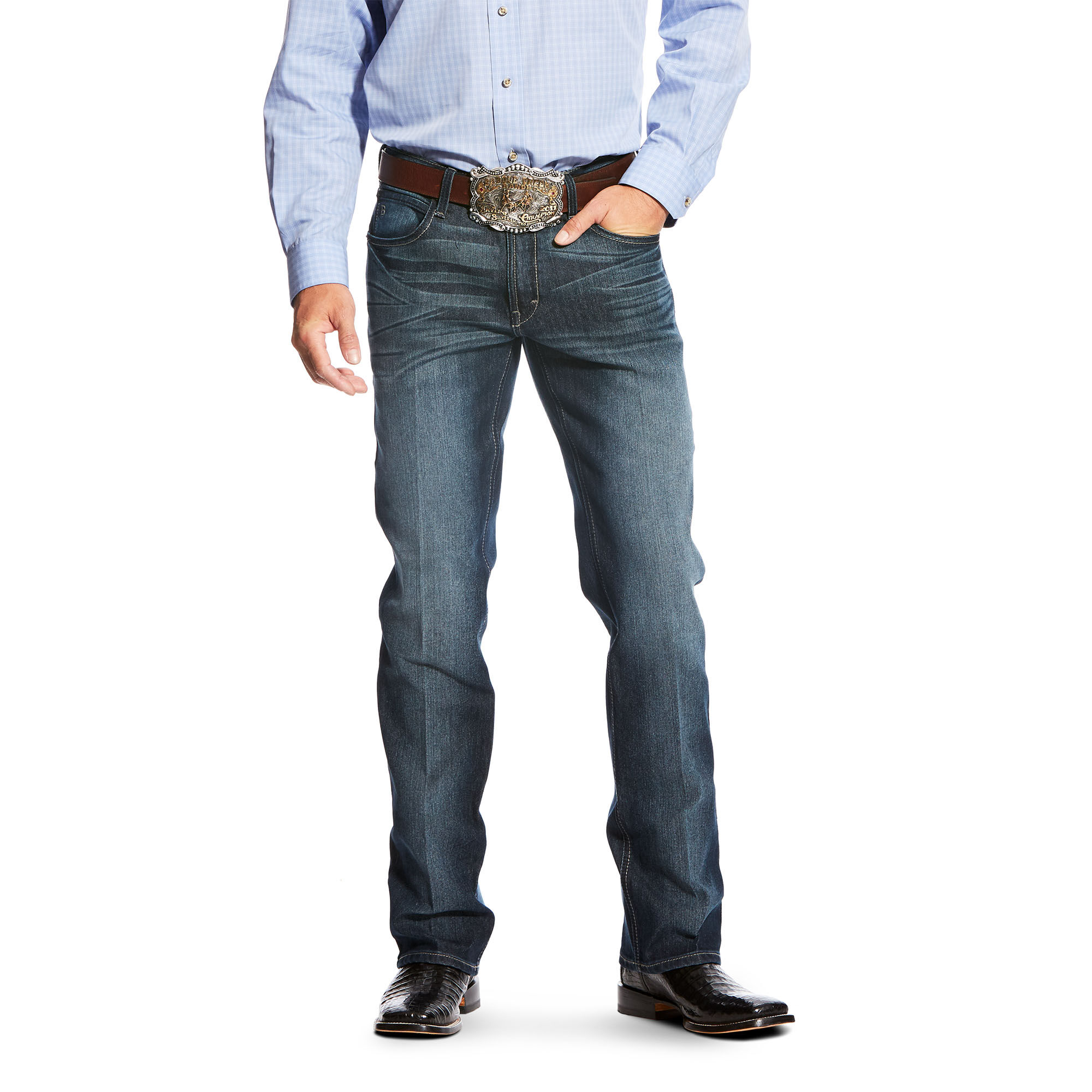 Relentless Original Fit Shadow Stitch Performance Stretch Stackable Straight Leg Jean