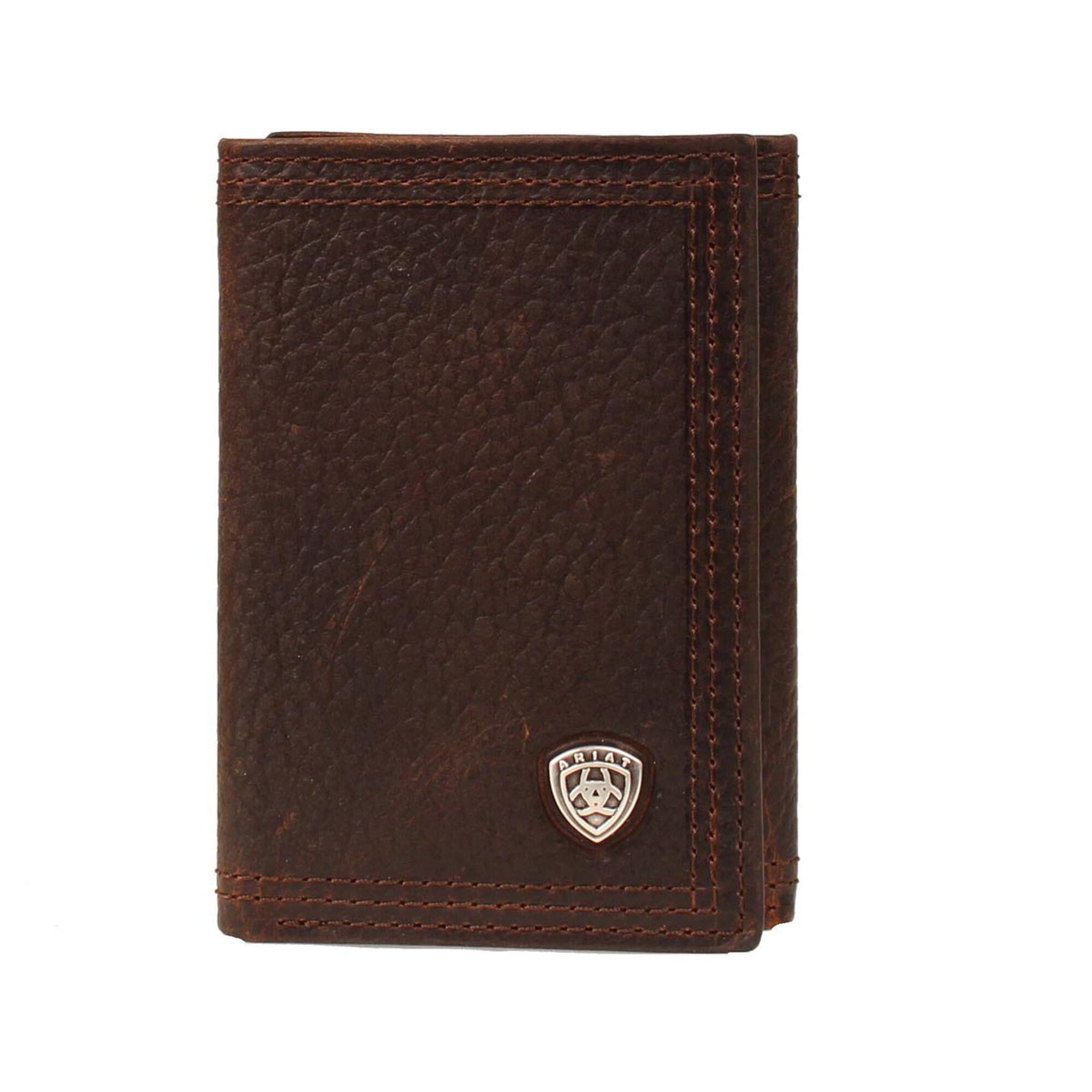 Triple Stitch Trifold Wallet