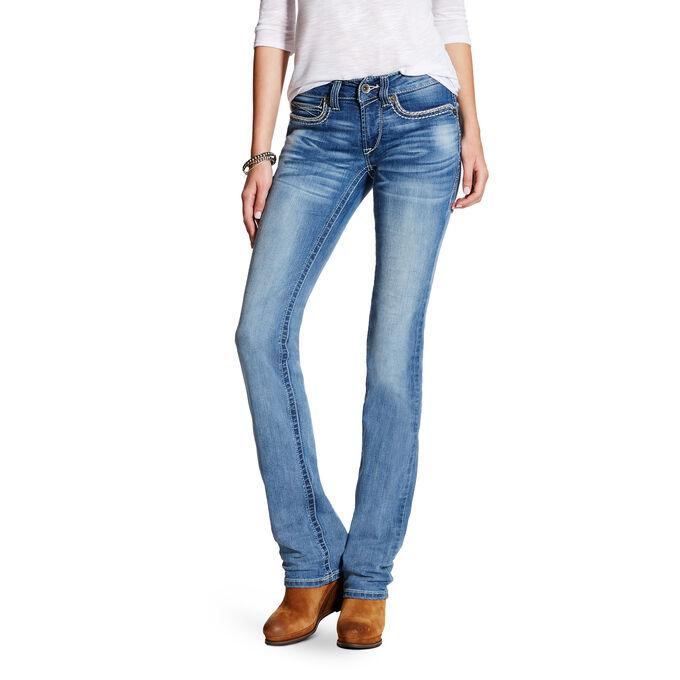 R.E.A.L Mid Rise Hanna Stackable Straight Leg Jean