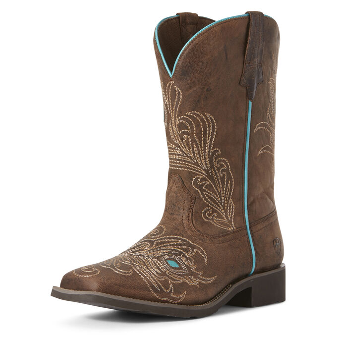Bright Eyes Wide Square Toe Western Boot
