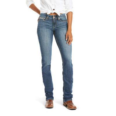 R.E.A.L. Perfect Rise Amethyst Stackable Straight Leg Jean