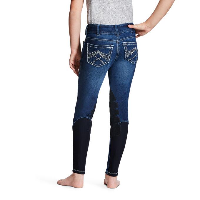 Whipstitch Breech Front Zip Knee Patch Breech