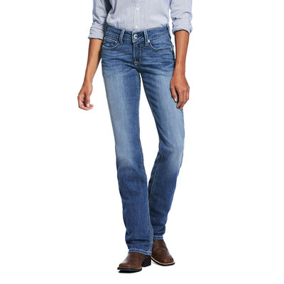 R.E.A.L. Mid Rise Stretch Talulah Stackable Straight Leg Jean