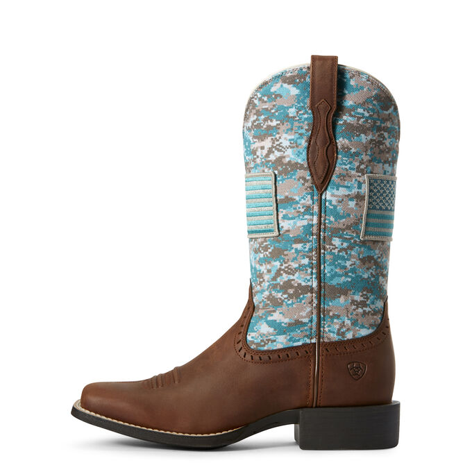 Round Up Patriot Textile Western Boot