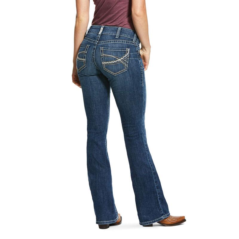 R.E.A.L. Mid Rise Stretch Carlie Boot Cut Jean