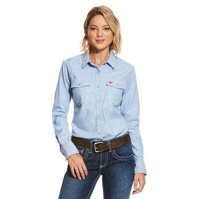FR Solid DuraStretch Snap Work Shirt
