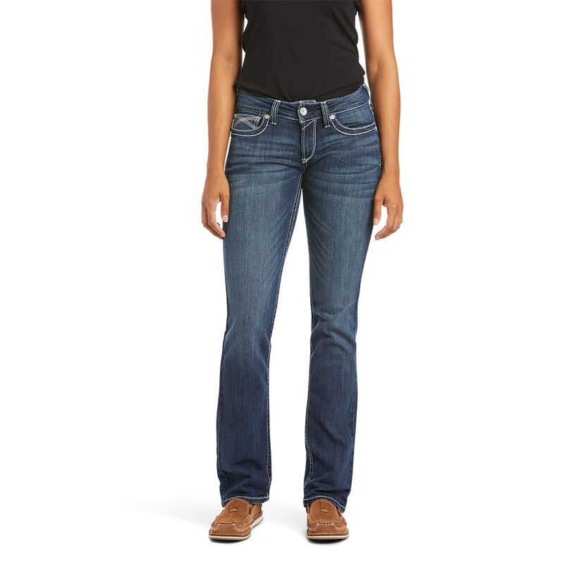 R.E.A.L. Mid Rise Stretch Ivy Stackable Straight Leg Jean