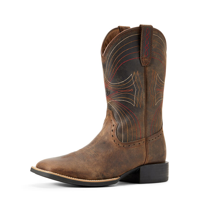 8daa1a3a329 Images. Sport Wide Square Toe Western Boot