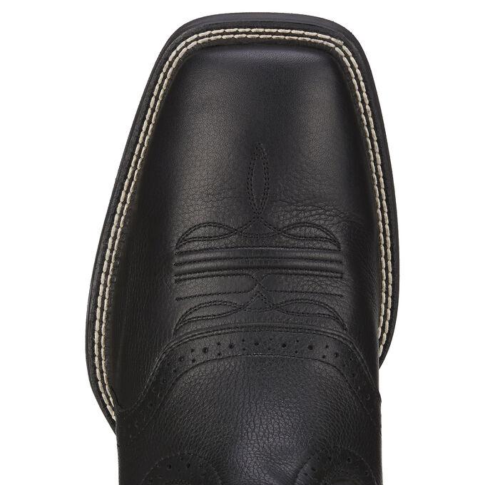 Mens Black Square Toe Cowboy Boots - Wide Square Toe