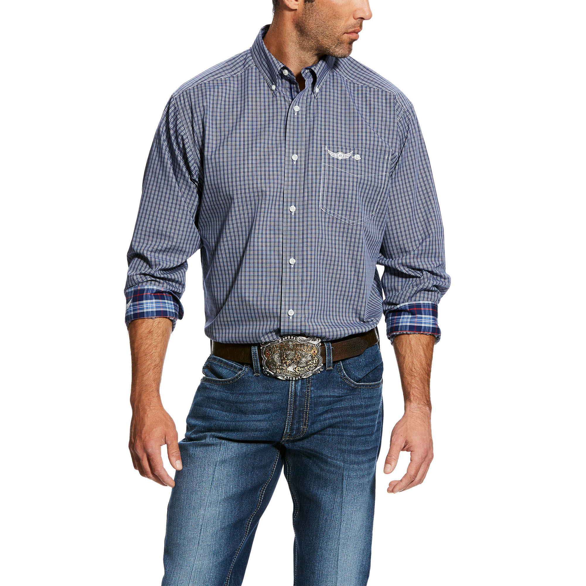 Relentless Honorable LS Plaid Shirt